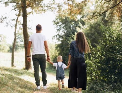 Una domenica in campagna con mamma e papà.